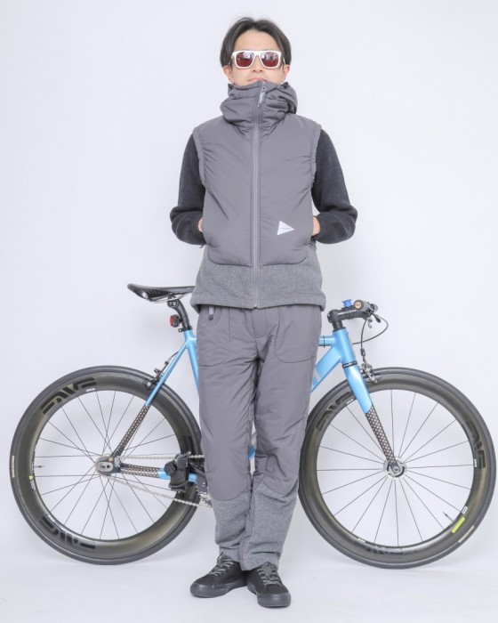 and wanderトップフリースベスト【top fleece vest】ma