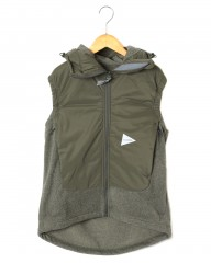 and wanderトップフリースベスト【top fleece vest】mb_c1