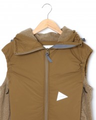and wander中綿フリースベスト【top fleece vest】mb_01l