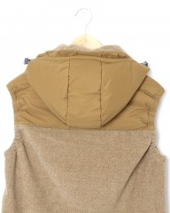 and wander中綿フリースベスト【top fleece vest】mb_11l