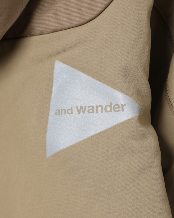 and wanderストレッチシェルジャケット【stretch shell jacket】13l