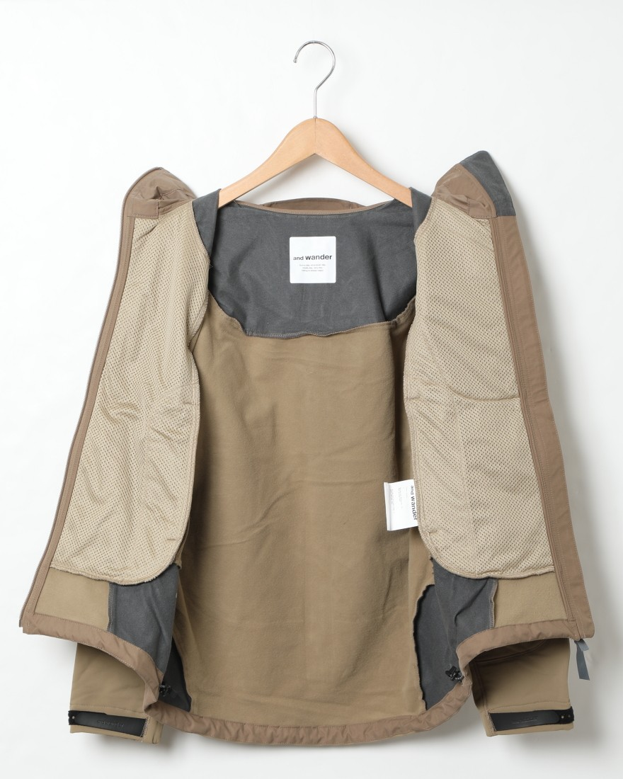and wanderストレッチシェルジャケット【stretch shell jacket】15l