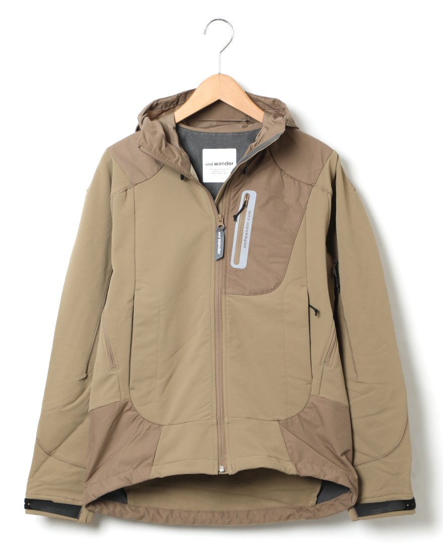 and wanderストレッチシェルジャケット【stretch shell jacket】c0