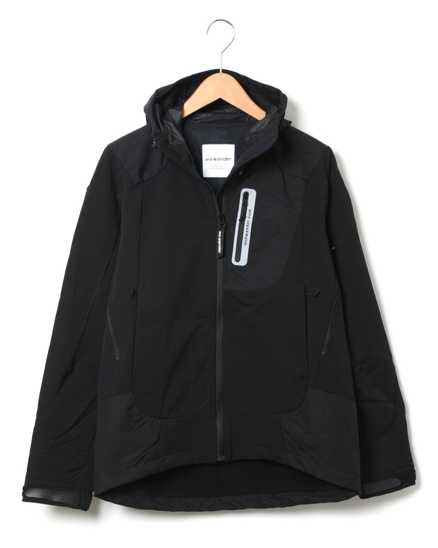 and wanderストレッチシェルジャケット【stretch shell jacket】c2