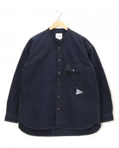 バンドカラーシャツ【CORDURA® typewriter band collar shirt】