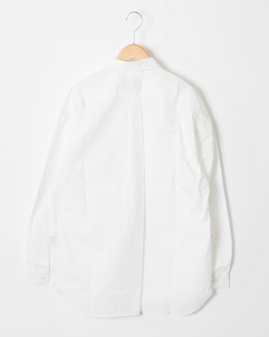 and wanderロングスリーブオーバーシャツ【CORDURA typewriter long sleeve over shirt 】08l