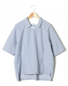 プルオーバー半袖シャツ【intersect shirt /tech Seersucker】