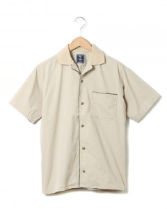 COOLMAXピケストレッチオープンカラーシャツ【Bed to Park Shirt】
