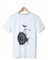 TOKYO WHEELS・白いTシャツと黒いバイク。(しろいティーシャツとくろいバイク)