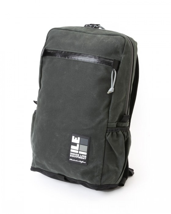 INSIDE LINE EQUIPMENT/ILEスクエアバックパック【Radius Mini/Waxd Canvas】c1