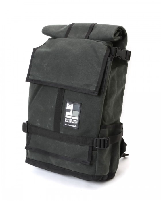 INSIDE LINE EQUIPMENT/ILEロールトップバックパック【Default Mini/Waxd Canvas】c1