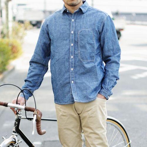 PEdALED(ペダレッド) ワークシャツ【garage shirt】